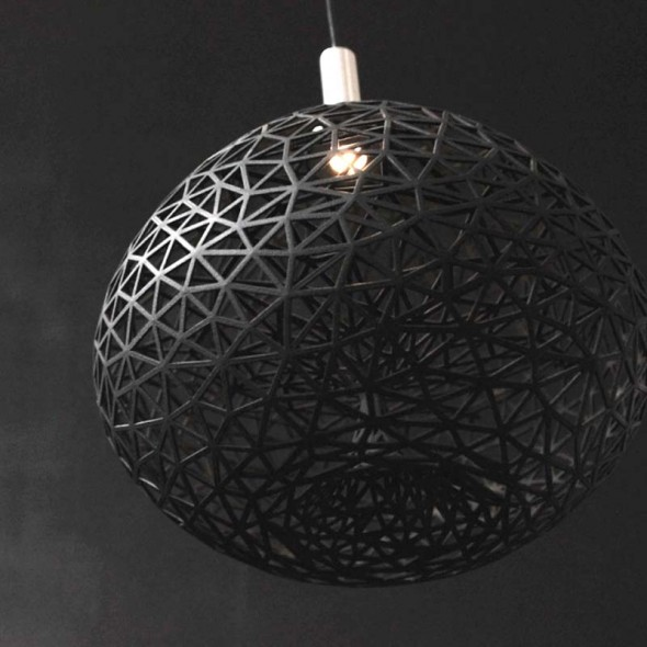 The Colony Pendant Black