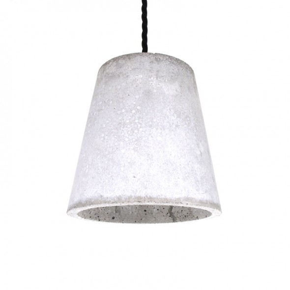 Bunker Cone Pendant Light Concrete