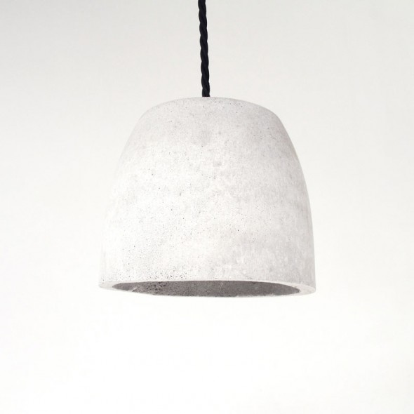 Bunker Dome Pendant Light Concrete