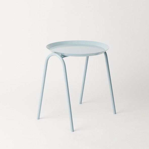 Hurdle Tray Side Table - Blue