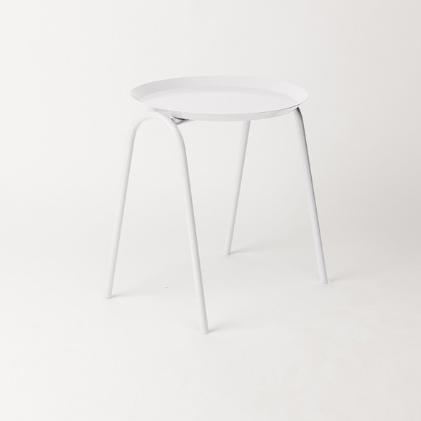 Hurdle Tray Side Table - White