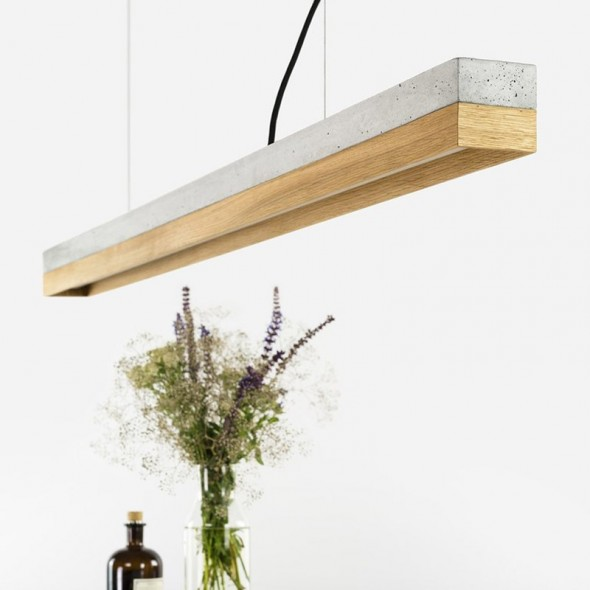 [C1] Pendant Light Concrete & Oak