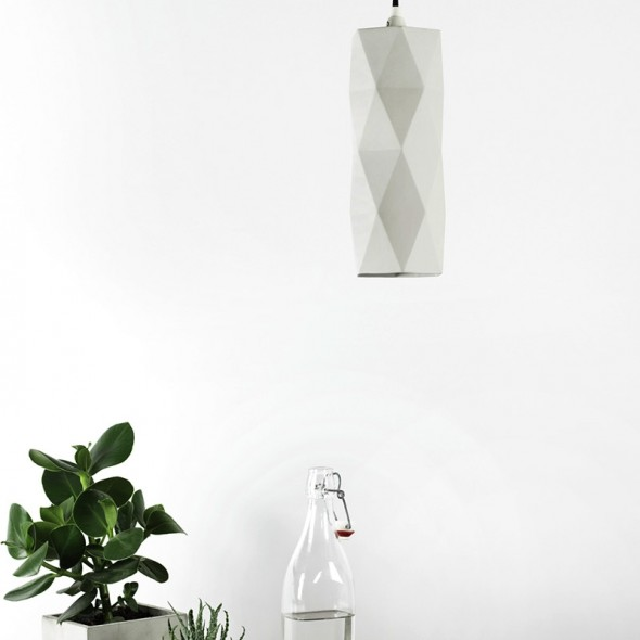 [K2] Matte Pendant Light Triangle
