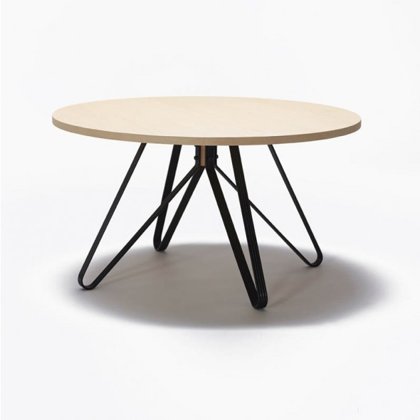 Monarch Dining Table with black legs and veneer top