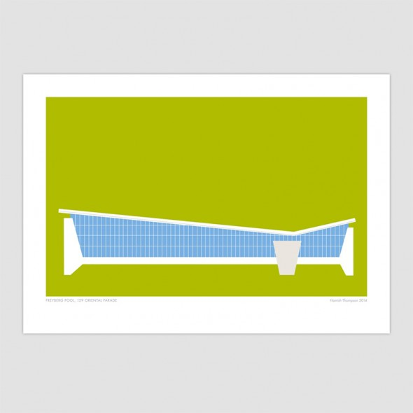 Freyberg Pool - Wellington Modern Art Print