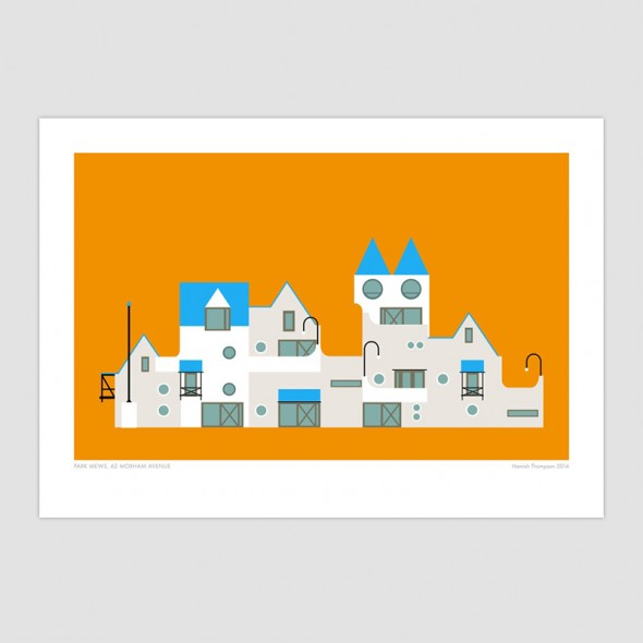 Park Mews - Wellington Modern Art Print