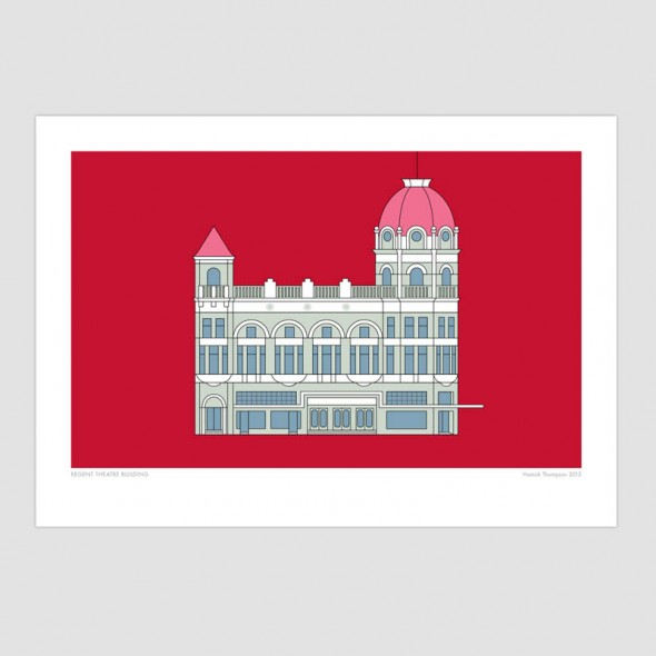 Regent Theatre Building - Christchurch Historic Art Print