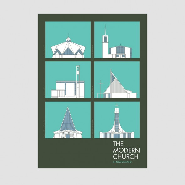 the modern church a2 poster by hamish thompson. Black Bedroom Furniture Sets. Home Design Ideas