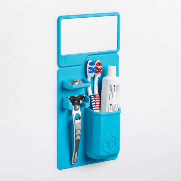 Mighty Toothbrush Holder by Tooletries with Mirror