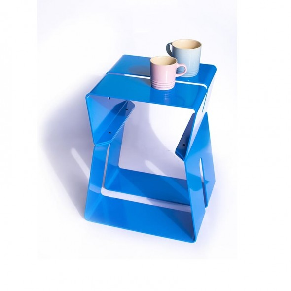 HOUR STOOL IN BLUE