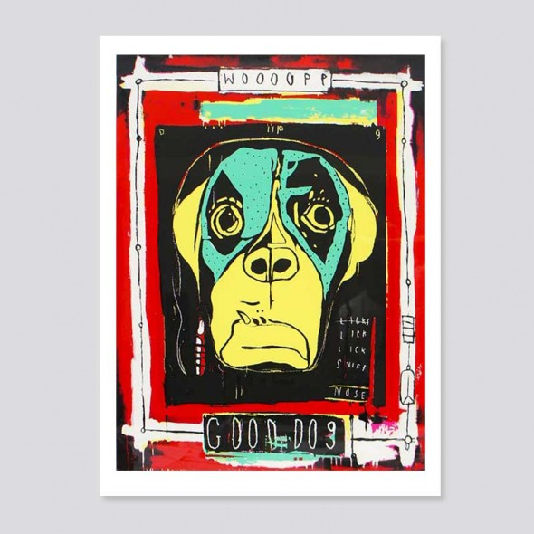 Good Dog, whole print including paper