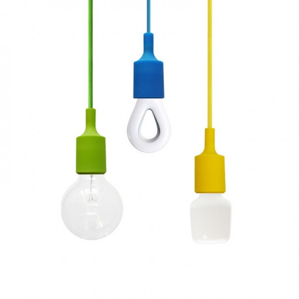 Various Silicone Lampholders, various bulbs
