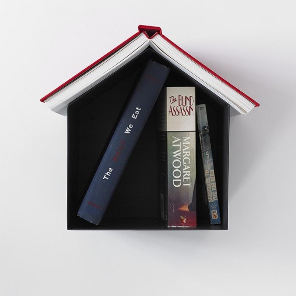 Birdhouse Bookshelf in black