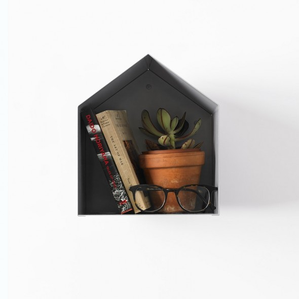 Birdhouse Bookshelf in grey