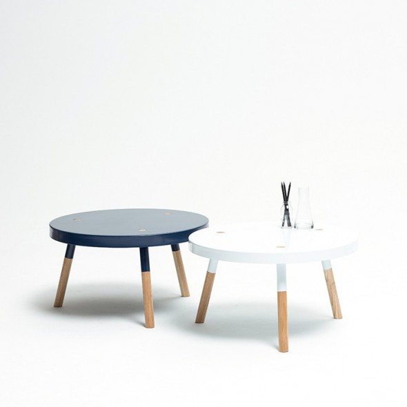 Y Coffee Table Navy & White