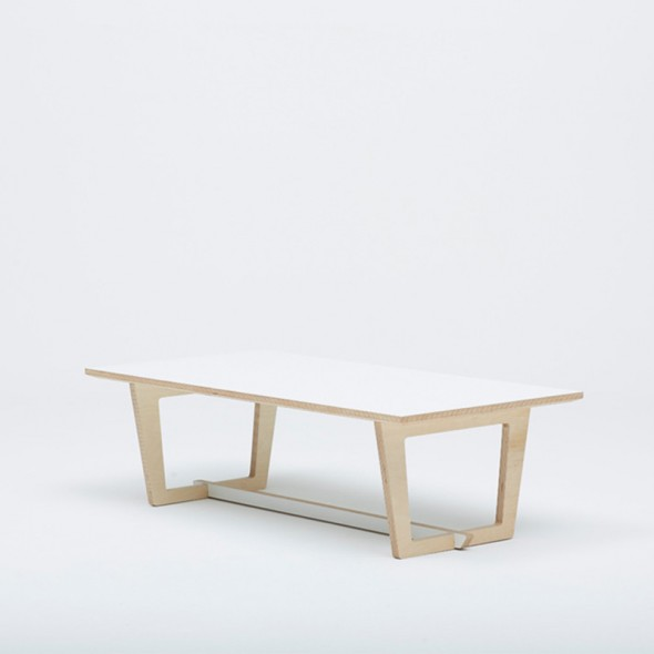 Trestle Coffee Table White