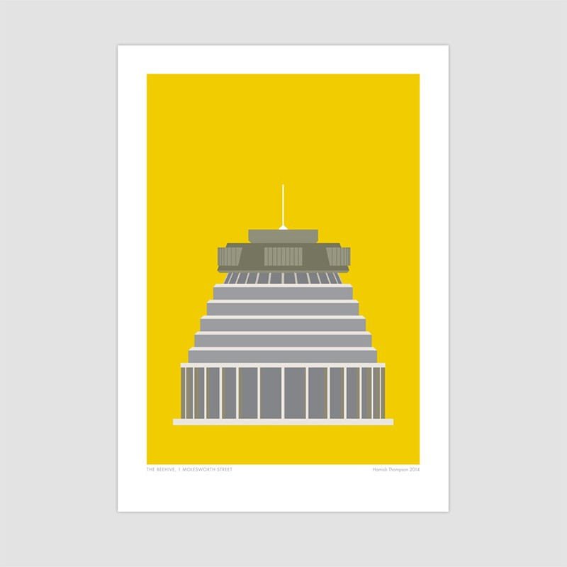 beehive wellington modern art print by hamish thompson. Black Bedroom Furniture Sets. Home Design Ideas