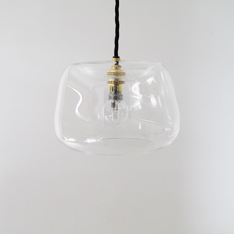 Ghost Glass Pendant Lamp Clear By Monmouth Glass Studio