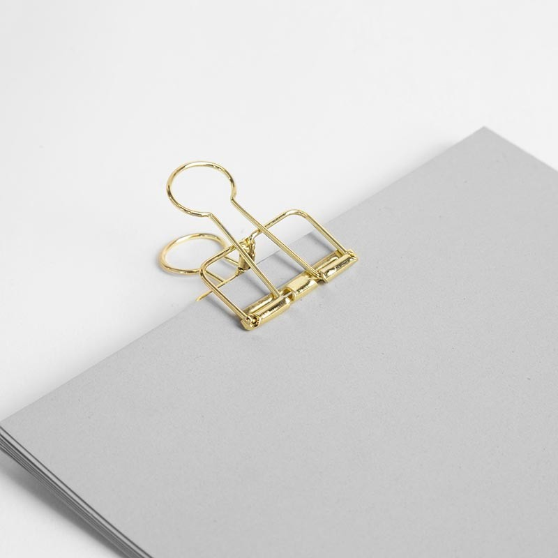Gold Bulldog Clips By Made Of Tomorrow