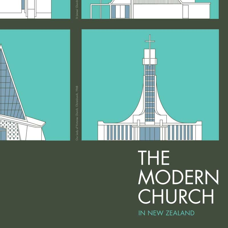 The Modern Church A2 Poster By Hamish Thompson