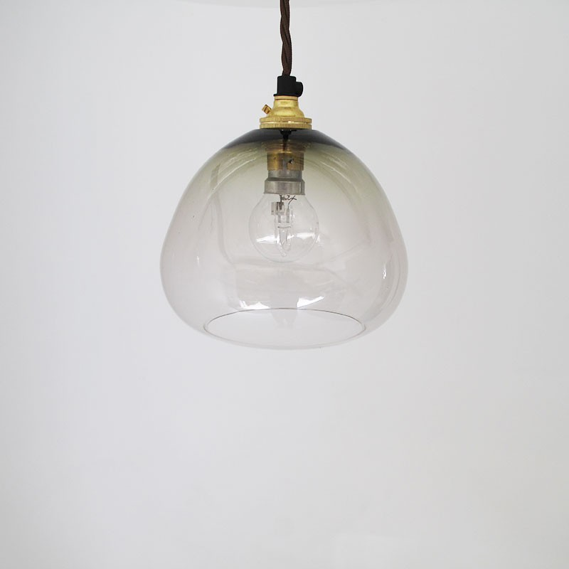 Dome Glass Pendant Lamp By Monmouth Glass Studio