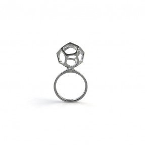 Fungi Ring Sterlimg White Gold
