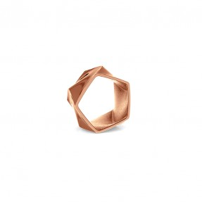 Flux Ring Rose Gold 14k