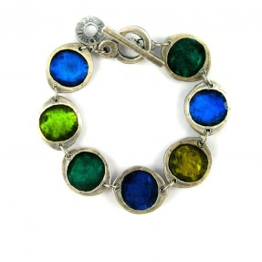 Paint Box Bracelet Blue Green