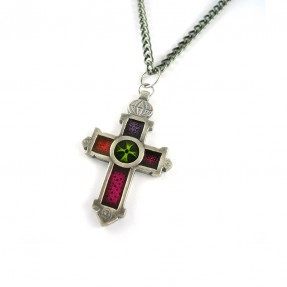 Crux Necklace Red Pink