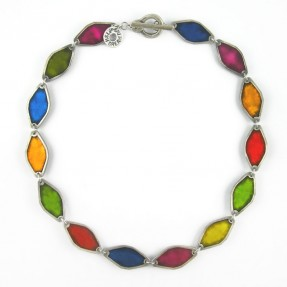 Paint Box Diamond Necklace Multicoloured