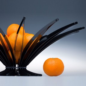 Black Arbolito Fruit Bowl by Christopher Metcalfe