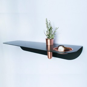 Curve Wall Shelf black