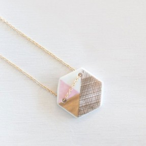 Porcelain Hex Necklace by Love Hate