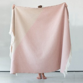 Triangle Chalk Pink held