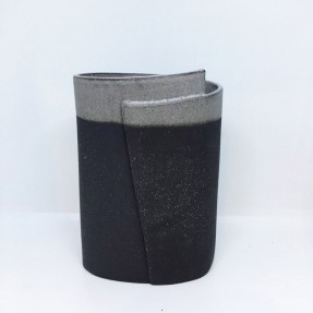 Smokey Grey and Black Vessel
