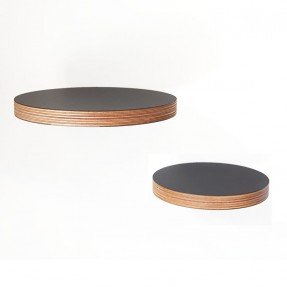 Round Floating Shelves in black