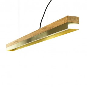 [C1o] Pendant Light Oak & Brass