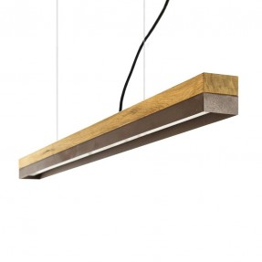 [C1o] Pendant Light Oak & Corten