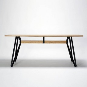 Monarch Table Indoor Ash Veneer with Black Legs