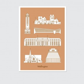 4 Cities - Wellington - Poster