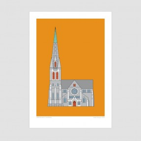 Christchurch Cathedral - Christchurch Historic Art Print