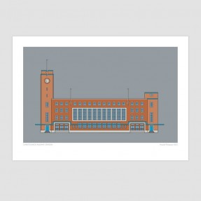 Christchurch Railway Station - Christchurch Historic Art Print