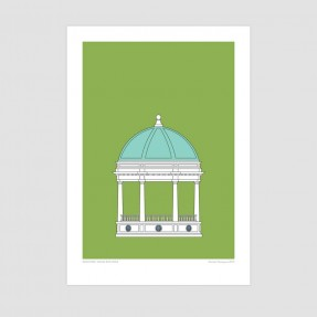 Edmond's Band Rotunda - Christchurch Historic Art Print