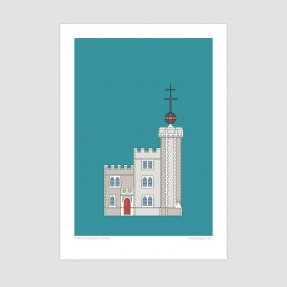 Lyttleton Time Ball Station - Christchurch Historic Art Print