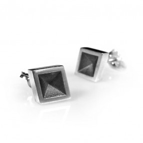 Black Diamonds Studs by Holly Howe