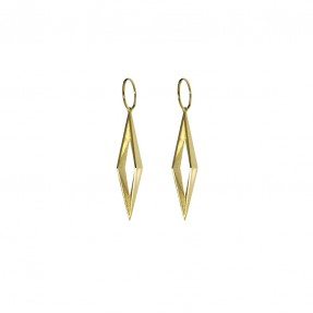 Diamond Void Hoops Gold