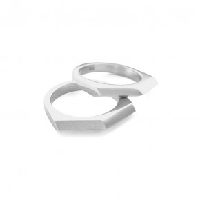 Razor Stacker Ring Double by Holly Howe