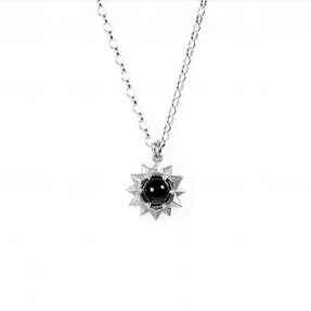 Stardrop Necklace featuring Onyx stone