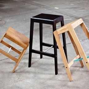 Oscar Stool  Black and Natural