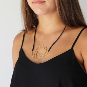 Gold Cluster Necklace by Insync